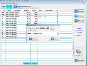Info Net screenshot dodawanie dokumentów