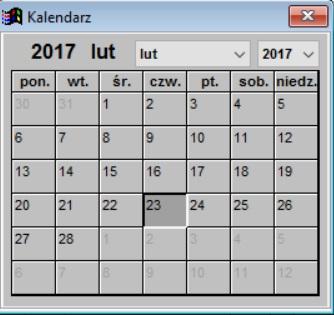 Infopiek sprzedaż program dla cukierni kalendarz