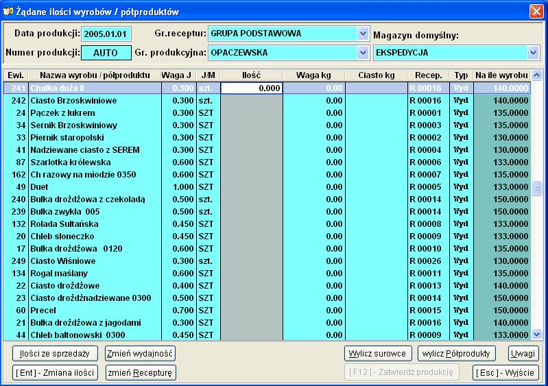 Infopiek Produkcja screenshot wpis produkcji