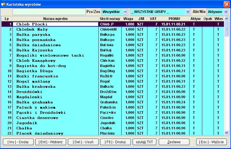 Infopiek sprzedaż screenshot wyroby