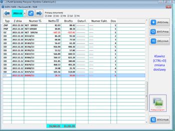 Info Net screenshot lista zamówień