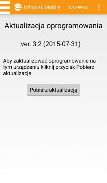 Infopiek mobile screenshot aktualizacja