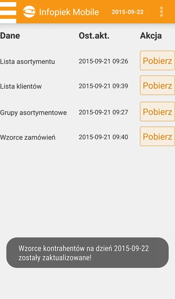 Infopiek mobile screenshot dokumenty do pobrania